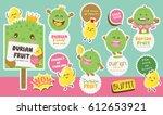 cute durian vector 5   cute... | Shutterstock .eps vector #612653921