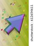 way template vector arrow | Shutterstock .eps vector #612654611