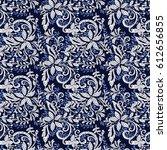 mosaic floral pattern  seamless ... | Shutterstock .eps vector #612656855