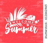 summer banner vector...   Shutterstock .eps vector #612662465