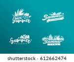 set of summer eps 10 vectors.... | Shutterstock .eps vector #612662474