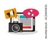 tablet device icon | Shutterstock .eps vector #612664631