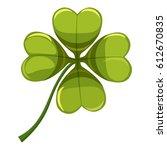 green leaf clover icon. cartoon ... | Shutterstock .eps vector #612670835