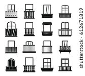 Window Forms Icons Set Balcony...