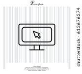 monitor  linear icon. vector...