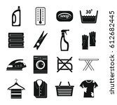 laundry icons set. simple... | Shutterstock .eps vector #612682445
