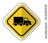 traffic signal with truck... | Shutterstock .eps vector #612690539