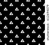abstract triangle pattern with... | Shutterstock . vector #612694079