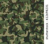 camouflage pattern background... | Shutterstock . vector #612698231