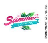 summer banner vector... | Shutterstock .eps vector #612703451