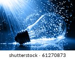 fiber optics background with... | Shutterstock . vector #61270873