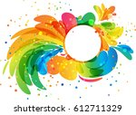 splash circle frame | Shutterstock .eps vector #612711329