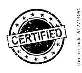 certified vector stamp icon   Shutterstock .eps vector #612714095