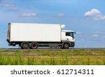 white truck transports freight... | Shutterstock . vector #612714311