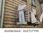 asbestos abatement  house... | Shutterstock . vector #612717794
