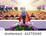 microphone soft focus on blur... | Shutterstock . vector #612731045