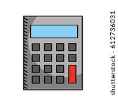 calculator math isolated icon