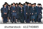 illustration of crowd of asian... | Shutterstock .eps vector #612740885