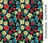 vector seamless pattern. floral ...   Shutterstock .eps vector #612749159