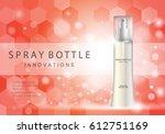 spray bottle innovations... | Shutterstock .eps vector #612751169