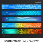 set design elements business... | Shutterstock .eps vector #612760499