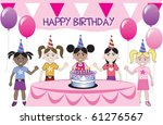 raster version of a birthday... | Shutterstock . vector #61276567