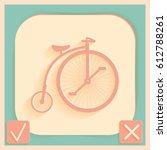 retro bicycle icon   Shutterstock .eps vector #612788261