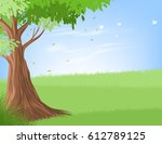 tree and landscape vector... | Shutterstock .eps vector #612789125