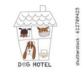 hotel for dogs. vector... | Shutterstock .eps vector #612789425