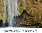 waterfalls in samana  dominican ... | Shutterstock . vector #612791771
