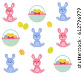 vector illustration of easter... | Shutterstock .eps vector #612796979