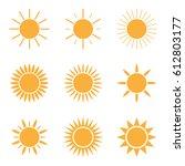 sun icons   Shutterstock .eps vector #612803177