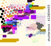 abstract vector background dot... | Shutterstock .eps vector #612804455