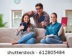 students preparing for... | Shutterstock . vector #612805484