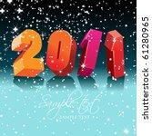 happy new year 2011 | Shutterstock .eps vector #61280965