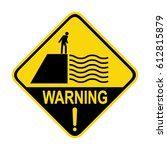 deep water warning sign  symbol ... | Shutterstock .eps vector #612815879