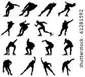 set of smooth winter sport  ice ...   Shutterstock .eps vector #61281592