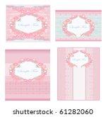 wedding reception card set | Shutterstock .eps vector #61282060