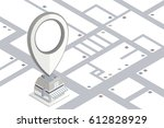 gps.design of gps icon dropping ... | Shutterstock .eps vector #612828929
