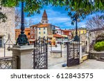 marble architecture at zadar... | Shutterstock . vector #612843575