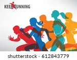 running people set of... | Shutterstock .eps vector #612843779