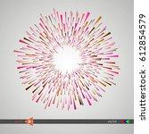 modern pattern. circle.... | Shutterstock .eps vector #612854579