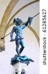 Statue of Perseus slaying Medusa - Loggia del Lanzi (Piazza della Signoria, Firenze, Italia) - stock photo