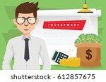 businessman concept design... | Shutterstock .eps vector #612857675