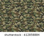 Stock vector texture military camouflage repeats seamless army green hunting 612858884
