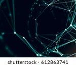 futuristic virtual technology... | Shutterstock . vector #612863741