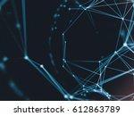 futuristic virtual technology...   Shutterstock . vector #612863789