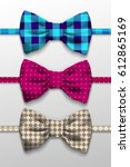 realistic bow tie  ... | Shutterstock . vector #612865169