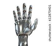 futuristic design concept of a... | Shutterstock . vector #612870401