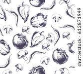 vector background with... | Shutterstock .eps vector #612871949